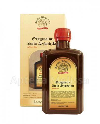 BITTER Oryginalne zioła szwedzkie - 250 ml - na trawienie - cena, stosowanie, opinie