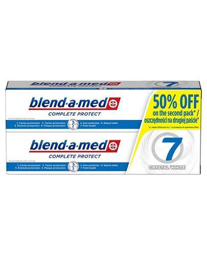 Blend-a-med Pasta do zębów Complete Protect 7 Krystaliczna biel - 2x100 ml - cena, opinie, skład - Drogeria Melissa