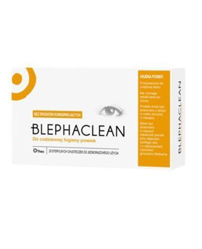 BLEPHACLEAN Chusteczki hypoalergiczne do higieny powiek - 20 szt. - Drogeria Melissa