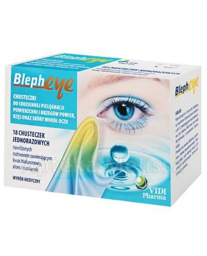 BLEPHEYE Chusteczki do pielęgnacji oczu - 18 szt.