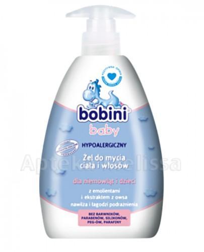 BOBINI BABY Hipoalergiczny żel do mycia ciała i włosów dla niemowląt i dzieci - 400 ml - Apteka internetowa Melissa