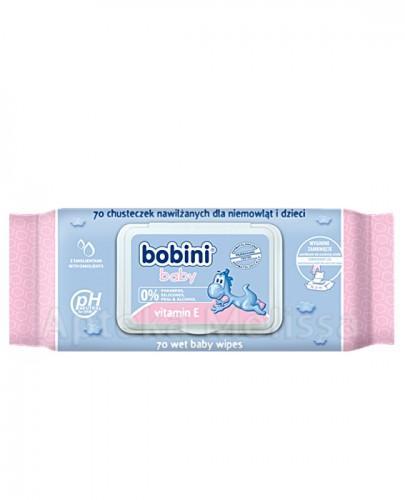 BOBINI Baby Chusteczki nawilżane z witaminą E 70 szt. - Apteka internetowa Melissa
