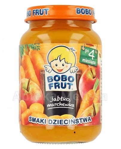 BOBO FRUT Deserek jabłko i marchewka po 4 m-cu - 185g - Apteka internetowa Melissa