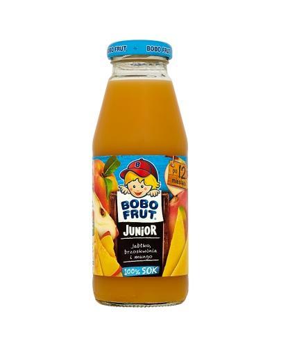 BOBO FRUT JUNIOR Sok jabłko, brzoskwinia i mango po 12 m-cu - 300 ml - Apteka internetowa Melissa
