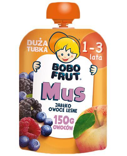 Bobo Frut Mus jabłko, owoce leśne - 150 g - cena, opinie, właściwości - Drogeria Melissa