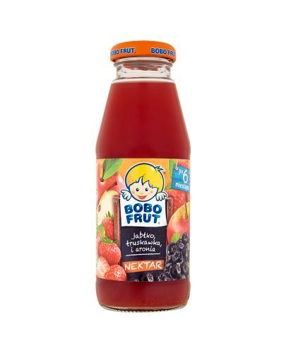 BOBO FRUT Nektar jabłko, truskawka i aronia po 6 m-cu - 300 ml