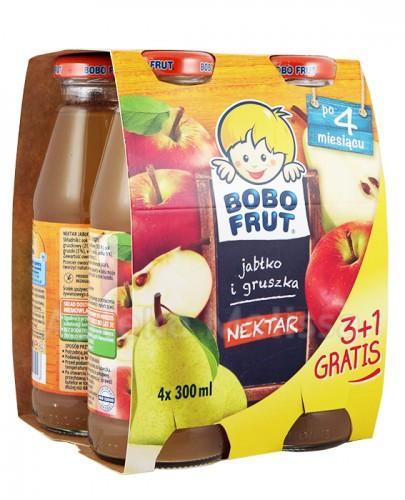 BOBO FRUT Nektar jabłko i gruszka po 4 miesiącu - 4 x 300 ml PROMOCJA 4 w cenie 3