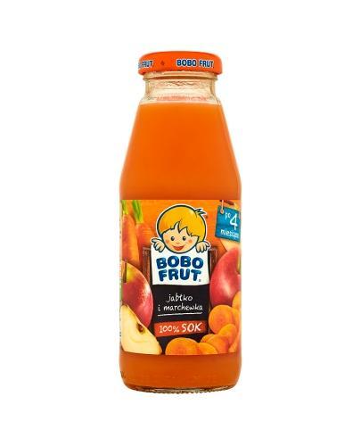 BOBO FRUT Sok jabłko i marchewka po 4 m-cu - 300 ml