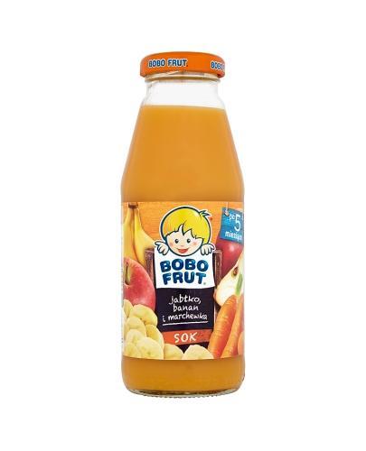 BOBO FRUT Sok jabłko, banan i marchewka po 5 m-cu - 300 ml
