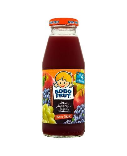 BOBO FRUT Sok jabłko, winogrona i jagody po 4 m-cu - 300 ml - Apteka internetowa Melissa