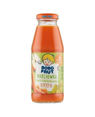 BOBO FRUT Sok marchewka, jabłko, winogrona, dynia po 6 miesiącu - 300 ml - cena, opinie, skadniki  - Apteka internetowa Melissa