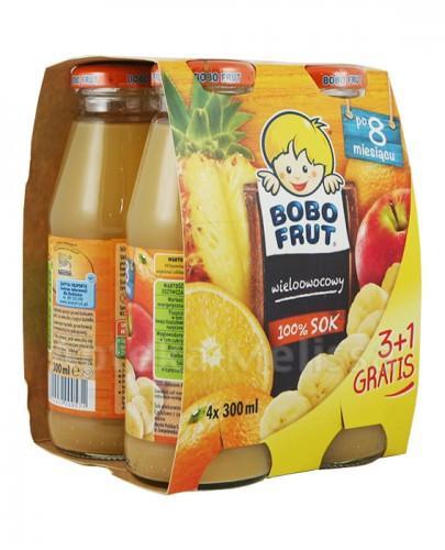 BOBO FRUT Sok wieloowocowy po 8 miesiącu - 4 x 300 ml PROMOCJA 4 w cenie 3 - Apteka internetowa Melissa