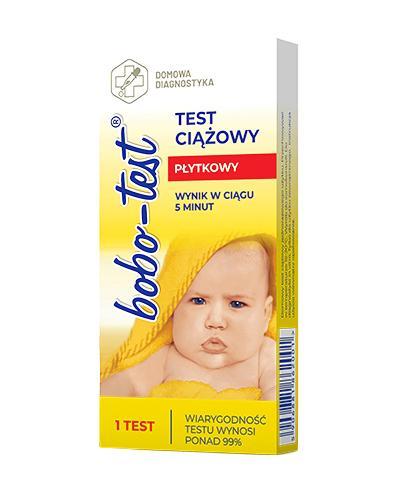 BOBO Test ciążowy płytkowy - 1 szt. - Apteka internetowa Melissa