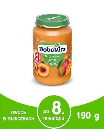 BOBOVITA Brzoskwinie jabłka i mango po 8 miesiącu - 190 g