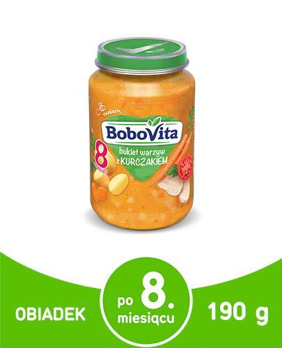 BOBOVITA Bukiet warzyw z kurczakiem po 8 m-cu - 190 g