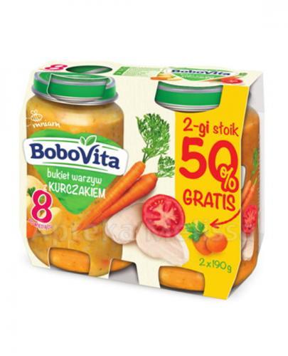 BOBOVITA Bukiet warzyw z kurczakiem po 8 m-cu - 2 x 190 g