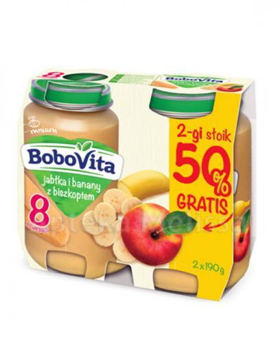 BOBOVITA Jabłka i banany z biszkoptem po 8 m-cu - 2 x 190 g