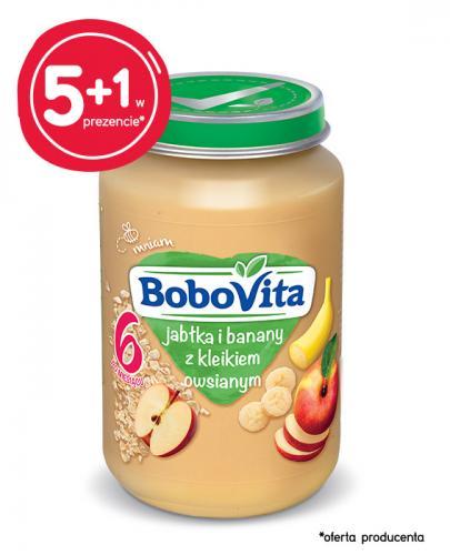 BOBOVITA Jabłka i banany z kleikiem owsianym po 6 m-cu - 6 x 190 g - cena, opinie, właściwości