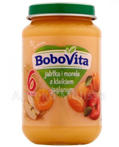 BOBOVITA Jabłka i morele z kleikiem jaglanym po 6 m-cu - 190 g - cena, opinie