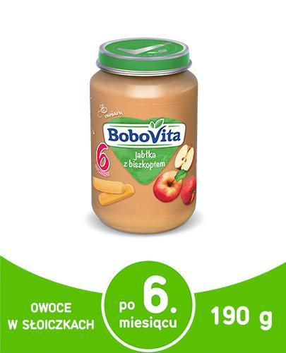 BOBOVITA Jabłka z delikatnym biszkoptem po 6 m-cu - 190 g - cena, opinie