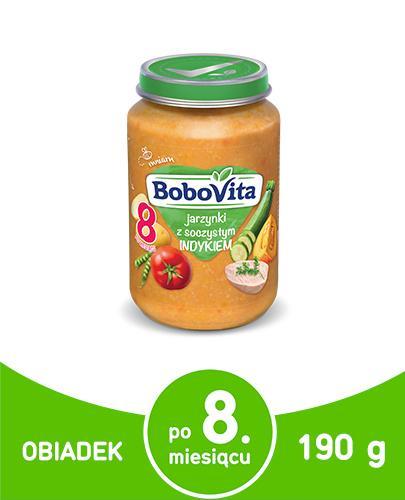 BOBOVITA Jarzynki z soczystym indykiem po 8 m-cu - 190 g - cena, opinie