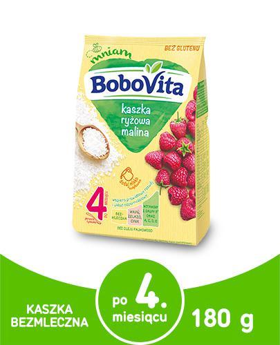 BOBOVITA Kaszka ryżowa o smaku malinowym - 180 g - Apteka internetowa Melissa