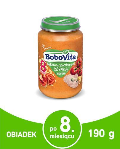 BOBOVITA Makaron z pomidorami, szynką i serem po 8 m-cu - 190 g - cena, opinie