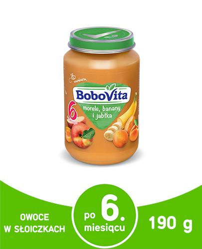 BOBOVITA Morele, banany i jabłka po 6 m-cu - 190 g - cena, opinie