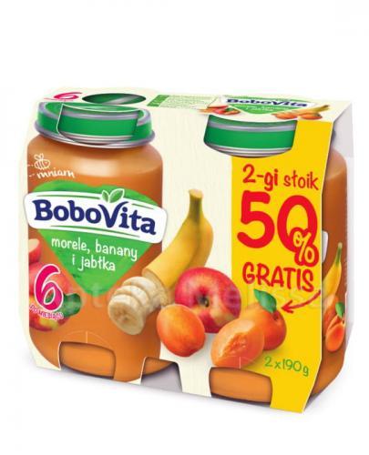 BOBOVITA Morele, banany i jabłka po 6 m-cu - 2 x 190 g - cena, opinie