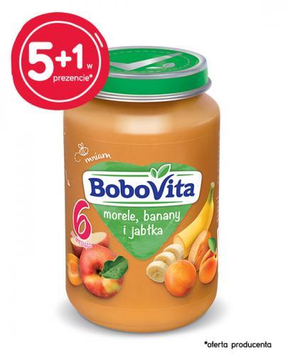 BOBOVITA Morele, banany i jabłka po 6 m-cu - 6 x 190 g - cena, opinie
