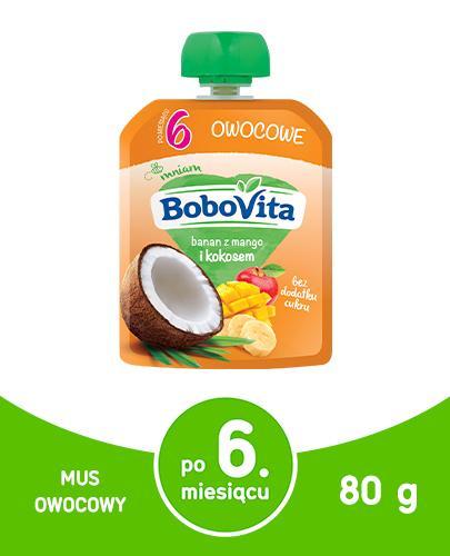 BOBOVITA MUS Banan z mango i mlekiem kokosowym po 6 m-cu - 80 g