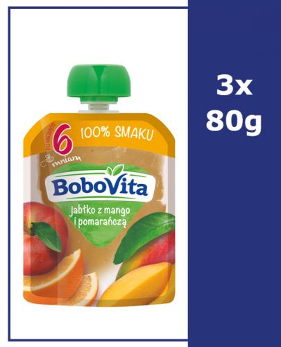 BOBOVITA MUS Jabłko z mango i pomarańczą po 6 m-cu - 3 x 80 g