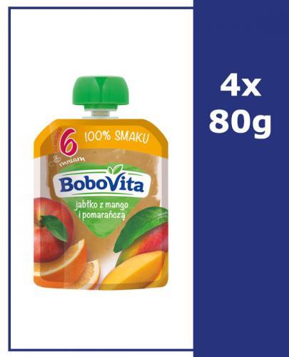 BOBOVITA MUS Jabłko z mango i pomarańczą po 6 m-cu - 4 x 80 g