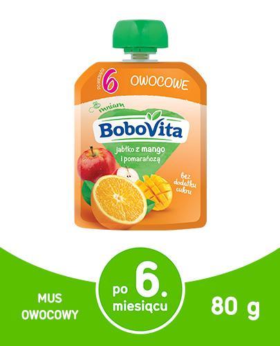 BOBOVITA MUS Jabłko z mango i pomarańczą po 6 m-cu - 80 g