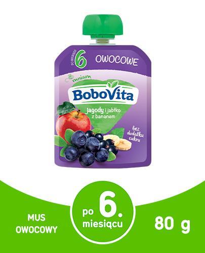 BOBOVITA MUS Jagody i jabłka z bananem po 6 m-cu - 80 g