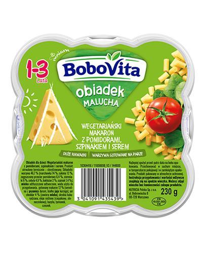 BoboVita Obiadek Malucha Wegetariański makaron z pomidorami, szpinakiem i serem 1-3 lata - 230 g - cena, opinie, właściwości - cena, opinie, właściwości - Apteka internetowa Melissa