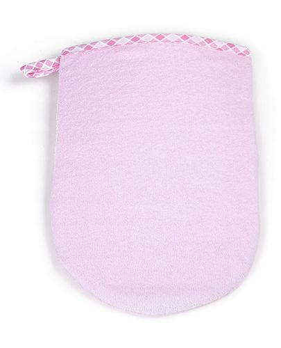 BOCIOLAND Rękawica myjka kąpielowa różowa - 1 szt. - Apteka internetowa Melissa
