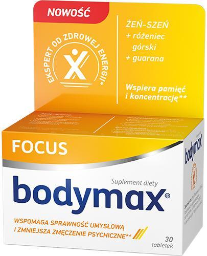 Bodymax Focus - 30 tabl. Na pamieć i koncentrację - cena, opinie, wskazania  - Apteka internetowa Melissa