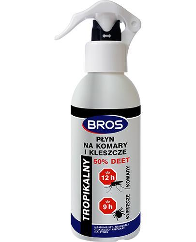 Bros Płyn na komary i kleszcze 50% Deet tropikalny - 130 ml - cena, opinie, właściwości - Drogeria Melissa