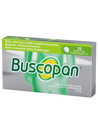 BUSCOPAN 10 mg - lek rozkurczowy - 20 tabl. - cena, stosowanie, opinie