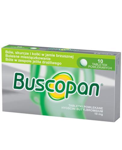 BUSCOPAN 10 mg - lek rozkurczowy -10 tabl. Data ważności 2021.02.28 - Apteka internetowa Melissa
