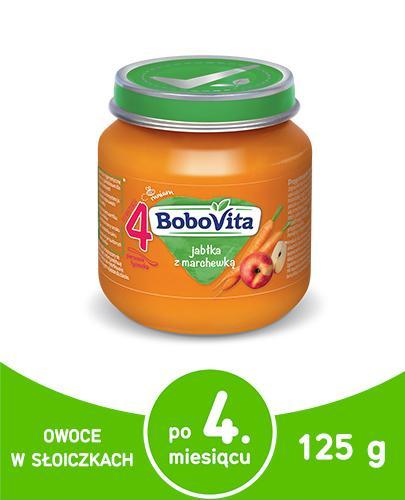 BOBOVITA Jabłka z marchewką po 4 m-cu - 125 g - Apteka internetowa Melissa