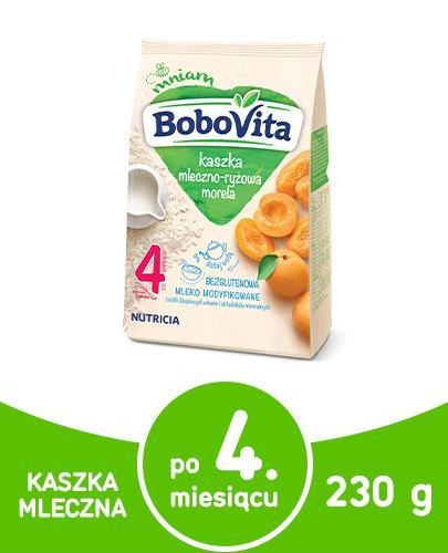 BOBOVITA Kaszka mleczno-ryżowa o smaku morelowym po 4 m-cu - 230 g - Apteka internetowa Melissa