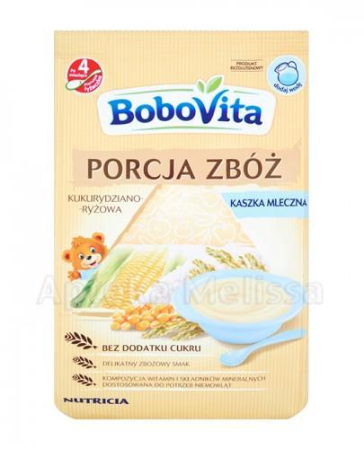 BOBOVITA PORCJA ZBÓŻ Kukurydziano-ryżowa kaszka mleczna po 4 m-cu - 210 g - Apteka internetowa Melissa