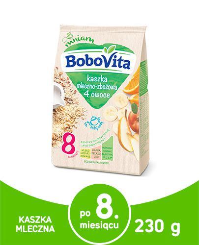 BOBOVITA Kaszka mleczno-wielozbożowa wieloowocowa Smaczna Kolacja - 230 g - Apteka internetowa Melissa