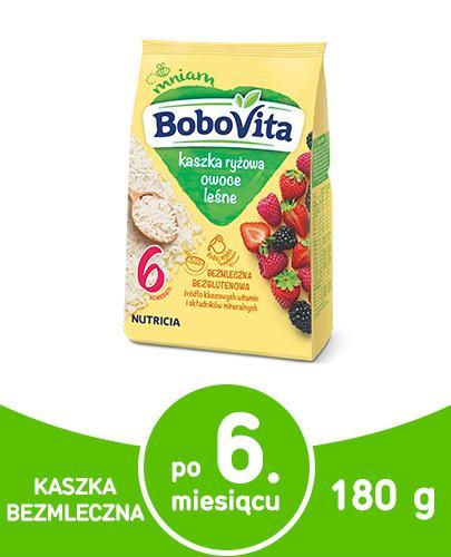 BOBOVITA Kaszka ryżowa o smaku owoców leśnych po 6 m-cu - 180 g - Apteka internetowa Melissa