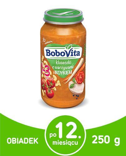 BOBOVITA Junior Kluseczki z warzywami i indykiem 1-3 lata - 250 g