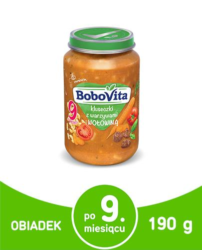BOBOVITA Kluseczki z warzywami i wołowiną po 9 m-cu - 190 g - Apteka internetowa Melissa