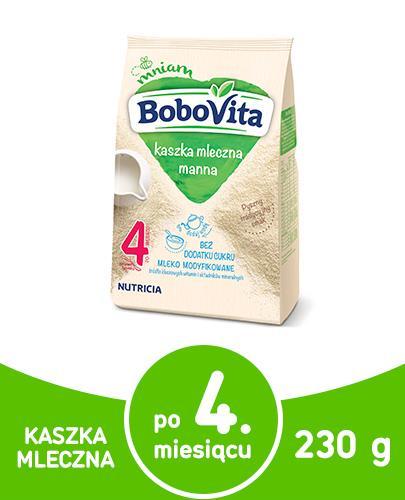 BOBOVITA Kaszka manna tradycyjny posiłek bez dodatku cukru po 6 m-cu - 230 g - Apteka internetowa Melissa