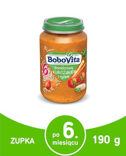 BOBOVITA Pomidorowa z kurczakiem i ryżem po 6 m-cu - 190 g - Apteka internetowa Melissa